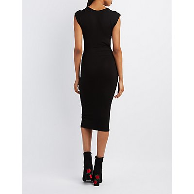 Cut-Out Sides Midi Dress