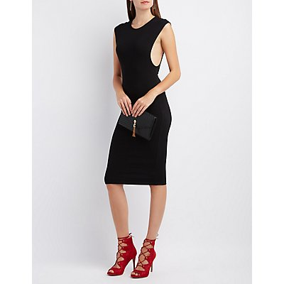 Dropped Armhole Midi Dress