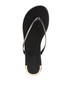 Metallic Accent Thong Sandals