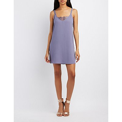 Layered Lace-Trim Slip Dress