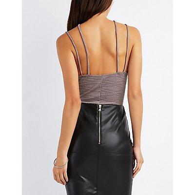 Shimmer Caged T-Strap Bodysuit