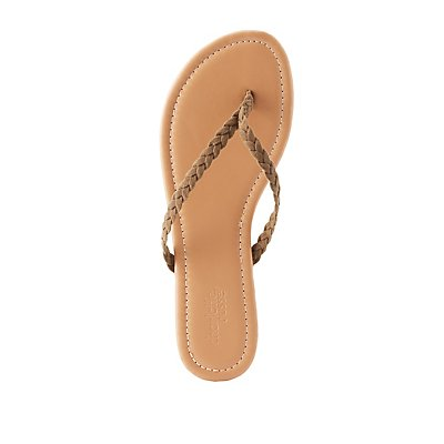 Braided Strap Thong Sandals