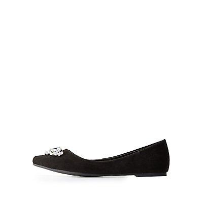 Embellished Pointed Toe Flats