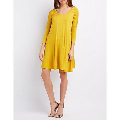 Dolman Sleeve Swing Dress