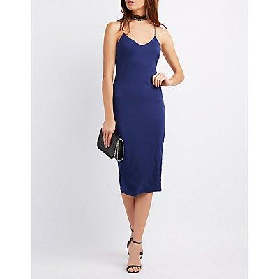 Bodycon Midi Slip Dress