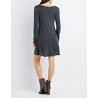 Hacci Scoop Neck Swing Dress