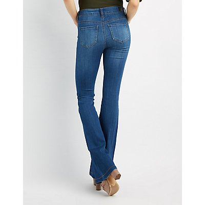 Medium Wash Flared Jeans