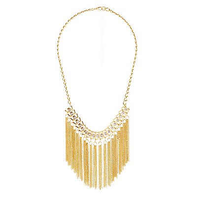 Fringed Chainlink Statement Necklace
