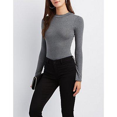 Mock Neck Long Sleeve Bodysuit