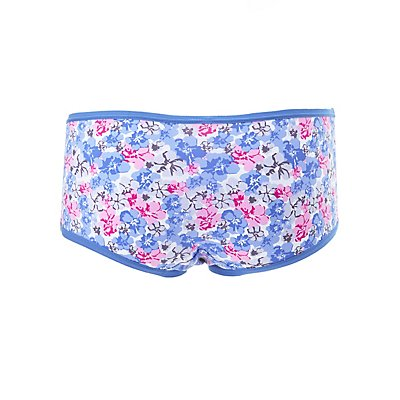 Plus Size Floral Lace-Trim Hipster Panties