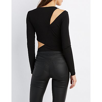 Asymmetrical Cut-Out Bodysuit
