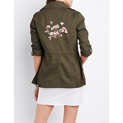 Embroidered Anorak Jacket
