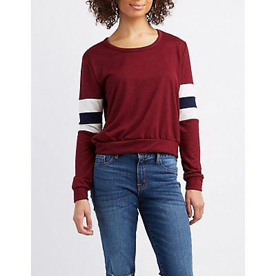 Varsity Stripe Sweatshirt