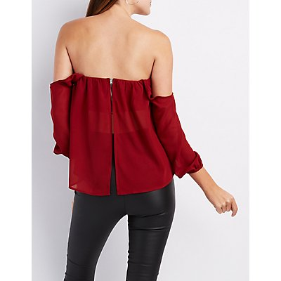 Off-The-Shoulder Sweetheart Top