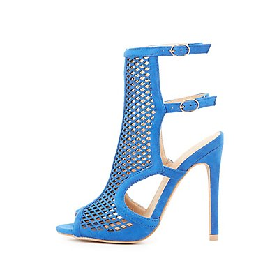 Buckled Perforated Dress Sandals