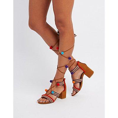 charlotte russe pom pom sandals