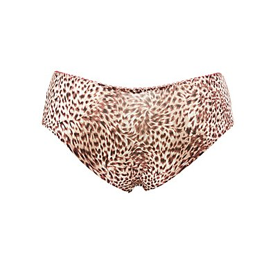 Plus Size Leopard Printed Hipster Panties