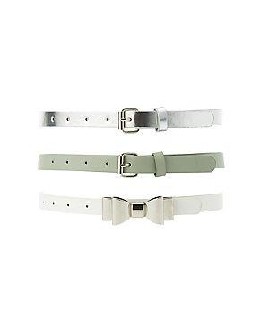 Plus Size Belts - 3 Pack