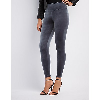 Velvet High-Rise Leggings