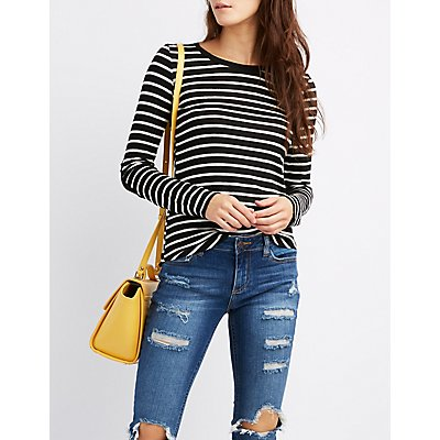 Striped Ringer Tunic Top