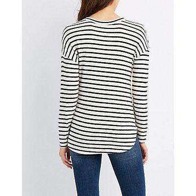 Striped Drop Shoulder Top