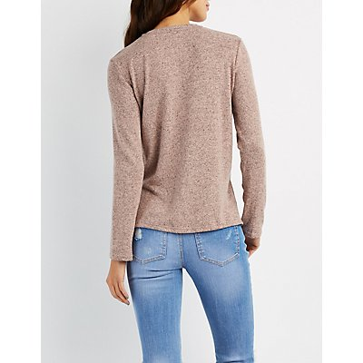 Marled Crew Neck Top