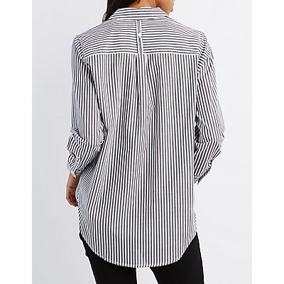 Striped Button-Up Shirt