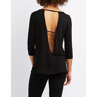 Strappy Cut-Out Back Top