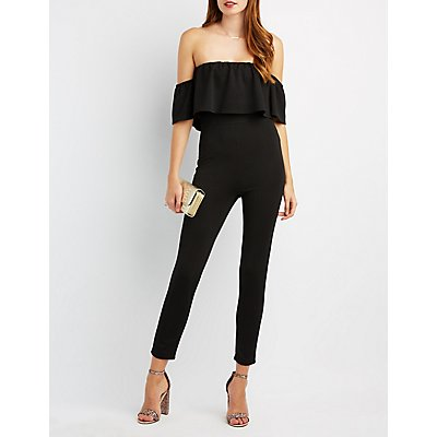 Ruffle Off-The-Shoulder Jumpsuit