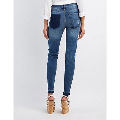 Refuge Patchwork Boyfriend Jeans