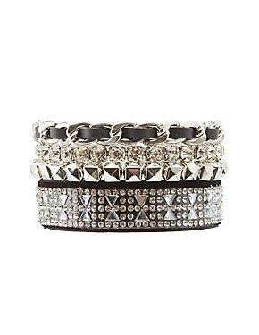 Embellished & Beaded Layering Bracelets - 4 Pack