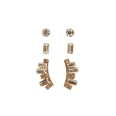 Stud & Front-Back Earrings - 3 Pack