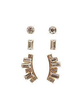 Stud & Front-Back Earrings - 3 Pack