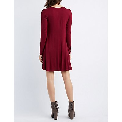 Layered Trapeze Shift Dress