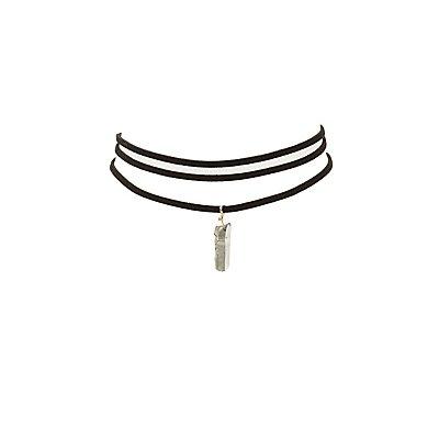 Faux Suede Choker Necklaces - 2 Pack