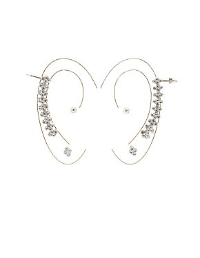 Embellished Ear Crawler & Stud Earrings Set