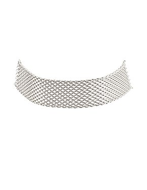 Plus Size Chainlink Choker Necklace
