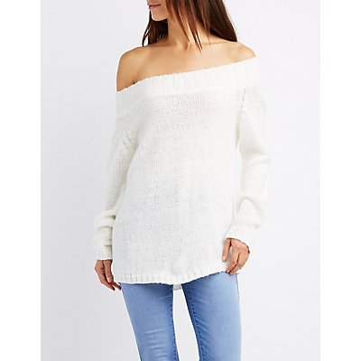 Off-The-Shoulder Oversized Sweater