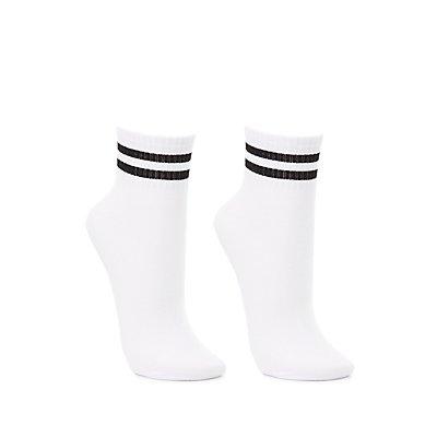 Striped Tube Socks - 2 Pack