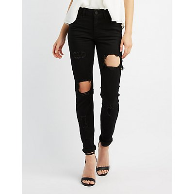 Skinny Jeans: High-Waist Ripped & Cropped | Charlotte Russe