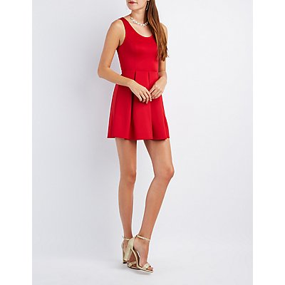 Heart Cut-Out Skater Dress