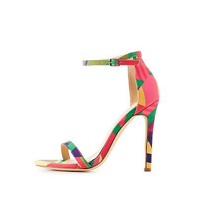 Neon Two-Piece Dress Sandals