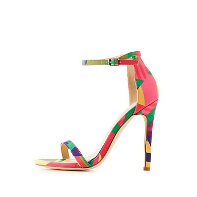 Neon Two-Piece Dress Sandals