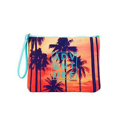 Adventure Printed Zip Pouch