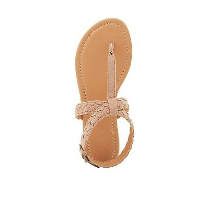 Braided T-Strap Sandals