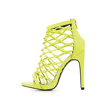 Knotted Caged Dress Sandals