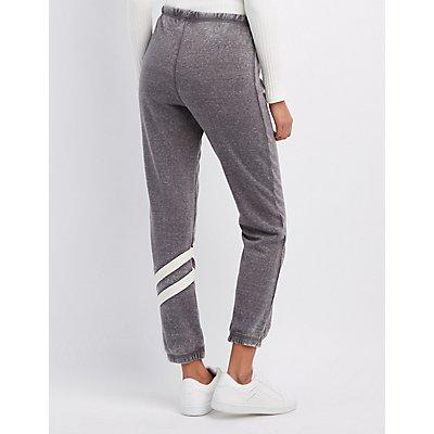 Striped-Leg Jogger Pants