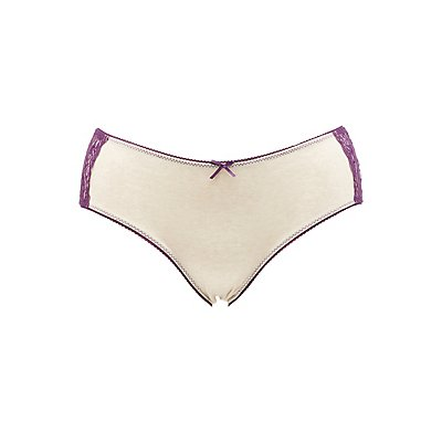Plus Size Lace-Sides Hipster Panties