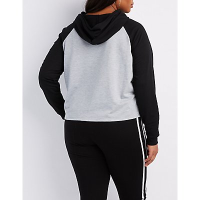 Plus Size Can You Not? Graphic Hoodie