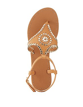 Whipstitch Thong Sandals